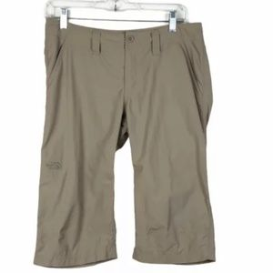 The North Face ARRE Lightweight Quick Dry Bermuda Hiking Shorts 6 Tan Pockets